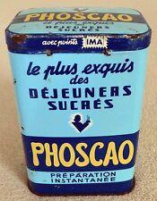 Ancienne Boîte Chocolat PHOSCAO en Tôle 1 Kilo