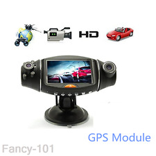 1080P Hd 2.7' Dual Lens Dash Cam Car Video Recorder Dvr Camera Gps Logger R310