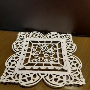 Die cut White Lacy Frames, Card Toppers / 6 frames -10 cm and 6 -6.2 cm