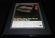 1969 Can't Buy a Cheap Chevy Framed 11x14 ORIGINAL Vintage Advertisement
