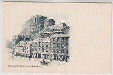 Midlothian postcard - Edinburgh Castle from Grassmarket