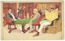 RED STAR LINE - J-6 - MEN PLAYING CHESS In Men's Lounge ca1905