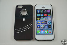 Black Diamond PENDANT Style Bling- iPhone 5 5S Designer Luxury Glitter Full Case