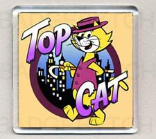 TOP CAT square fridge magnet - RETRO COOL !