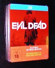 EVIL DEAD 2 DISC STEELBOOK EDITION BLU RAY  NEU & OVP
