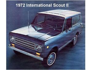 1972 International Scout II  Auto  Refrigerator  / Tool Box Magnet Man Cave