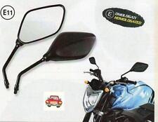 Coppia specchio retrovisore space moto naked colore nero omologati con perno 10