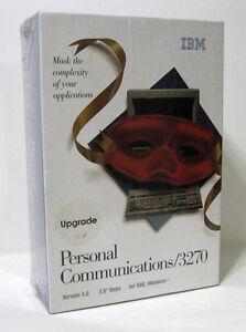 Vintage IBM Personal Communications 3270 4.0 Upgrade New NIB