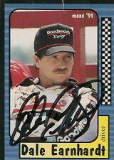 Dale Earnhardt autographed 1991 MAXX NASCAR card #3/240