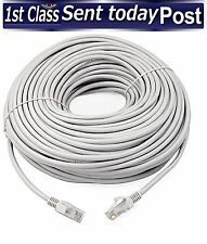 30m Metre Ethernet CAT 5e RJ45 Network LAN Cable Lead Grey