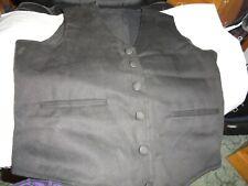 Civil War, Cowboy Cotton Black Vest Size 38