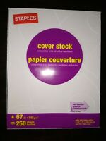 "Staples Cover Stock Paper 67 lbs 8.5"" x 11"" White 250 sheets"