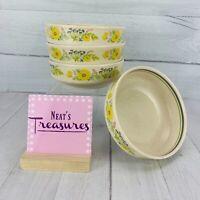 Vintage Lenox Temperware SUMMER SPICE Multicolored Floral Cereal Bowls Set 4
