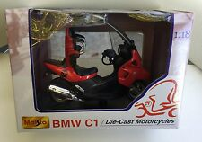 Maisto 39350 1:18 BMW C1-RED Die-Cast moto, moto