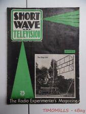 1938 Short Wave & Television Magazine March Hugo Gernsback Vintage Radio More