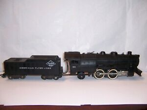 American Flyer #301 Locomotive w/Tender Reading Lines 1953 3/16 Scale Trains