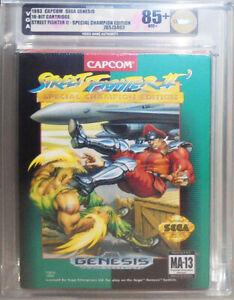 -Sealed- 1993 -Street Fighter 2/II- VGA 85+ SEGA Genesis Graded Video Game - NOS