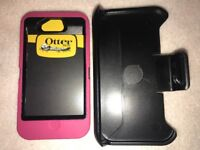 Otterbox Defender Series case & Belt clip for Apple iPhone 4 / 4s Pink Free Ship