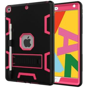 For iPad 10.2 8th Gen 2020 A2270 Military Shockproof Heavy Duty Kickstand Case