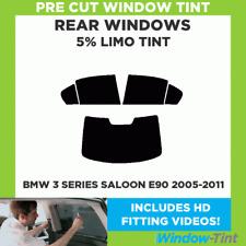 BMW 3 SERIES E90 4-DOOR  2005-2011 5% LIMO REAR PRE CUT WINDOW TINT