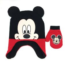 Toddler (Osfm) Disney Mickey Mouse Winter Hat & Mittens Set (New with Tags)