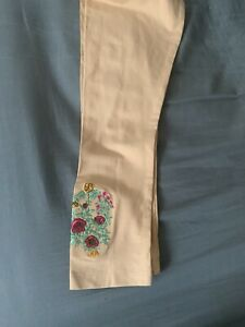 Khaadi Women' Embroidered Stretchable Tights Beige Brand New