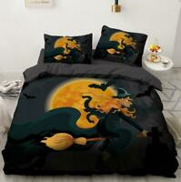 3D Halloween Magic Broom KEP5246 Bed Pillowcases Quilt Duvet Cover Kay