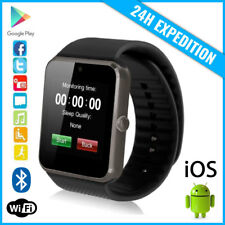 Original GT08 Smart Watch Montre Facebook Bluetooth SIM Slot Android iOS Black