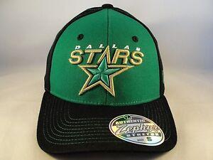 Dallas Stars NHL Zephyr Stretch Flex Hat Cap Size Small Green Black