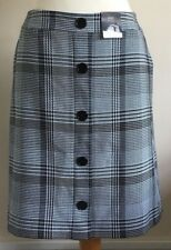 M&S Collection Size 18 Ladies Smart Black, White & Blue Check Skirt, BNWT