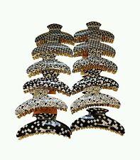 12 un. Pinza de Pelo Clip Pinza Abrazadera empuñadura garra de gran tamaño de calidad superior al por mayor #1