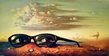 "Vladimir Kush         ""Forgotten Sunglasse""      1999    Giclee on Canvas     BA"