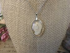 Necklace Jewelry Pendant Womens ,Girls S 00004000 uspended Angel In Clear Oval