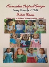 SEWING PATTERN for American Girl Doll Clothes -BODICE BASICS  by Farmcookies