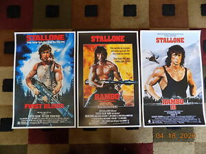 """Rambo trilogy ( 11"""" X 17"""" ) Movie Collector's Poster Prints ( Set of 3 )"""