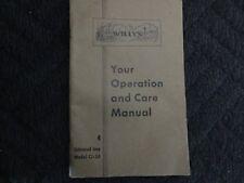 Willys CJ-2A Facory Original Owners Manual 1946 Jeep CJ2A
