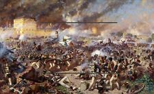 More details for napoleonic war's 1803 to 1815  reproduction  print  framed