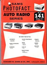 Sams Photofact-Auto Radio Manual/#AR-141/First Edition-First Print/1973