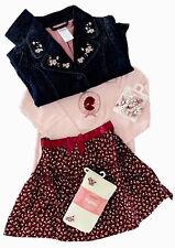 NWT Gymboree La Belle Epoque Skirt Shirt Jacket Outfit Curlies Tights Set 4 NEW