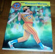VINTAGE 1981 TUCSON TOROS SOUVENIR PROGRAM-AFFILIATE OF HOUSTON ASTROS-ART COVER