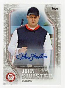 2018 Topps USA Olympic Team Autograph John Shuster Gold Medal Curling 43/50