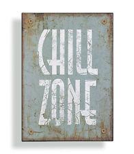 Panneau Mural Métal Chill Zone shabby Panneau décoratif décoration