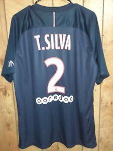 2016/17 PSG Paris Saint-Germain Home Jersey/Shirt, Size XL #2 Thiago Silva