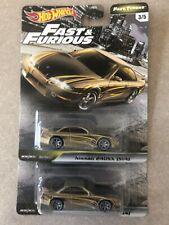 2 (two) Hot Wheels NISSAN 240SX (S14) Fast & Furious Tuners Premium Car Culture