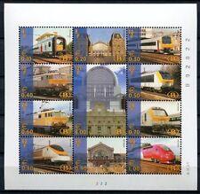 BELGIEN 2001 Eisenbahn Railways Trains Kleinbogen im Folder ** MNH