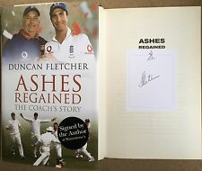Duncan Fletcher Ashes Regained Signed First Edition Test Cricket Coach