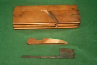 "Fine Clean User 19th Century Complex 1-1/2"" Woodworking Moulding Plane Inv#JU04"