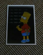 The Simpsons Magical Motion/Holographic Card - Bart writing lines- (Panini)