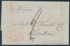 USA FWDING AGENT 1844 HUTH E.L BOSTON TO LONDON HARNDEN'S PACKAGE EXPRESS BU1780