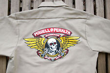 "BNWOT CAMISA POWELL PERALTA ""WINGED RIPPER"" WORK SHIRT S/S KAKHI SMALL NUEVA"